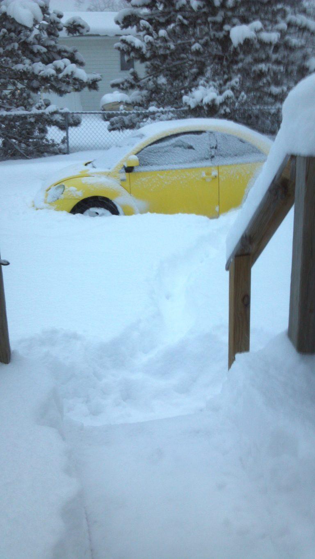 It snowed a little