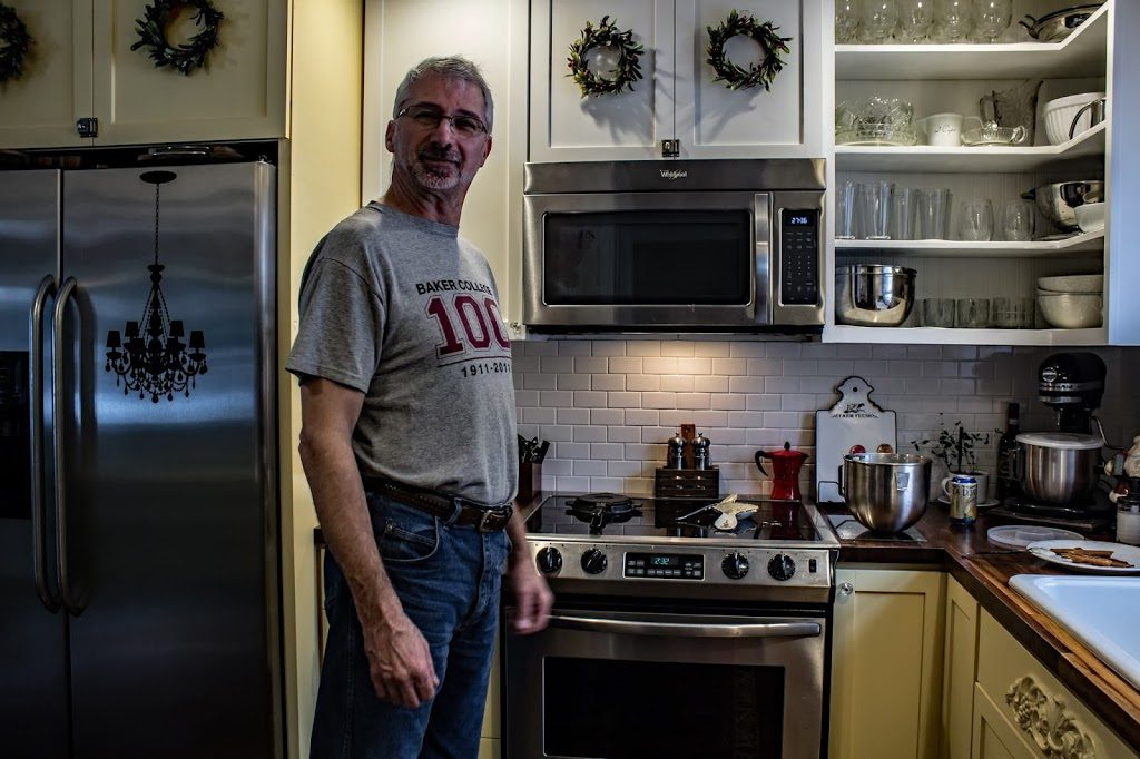 Jim in the kitchen
