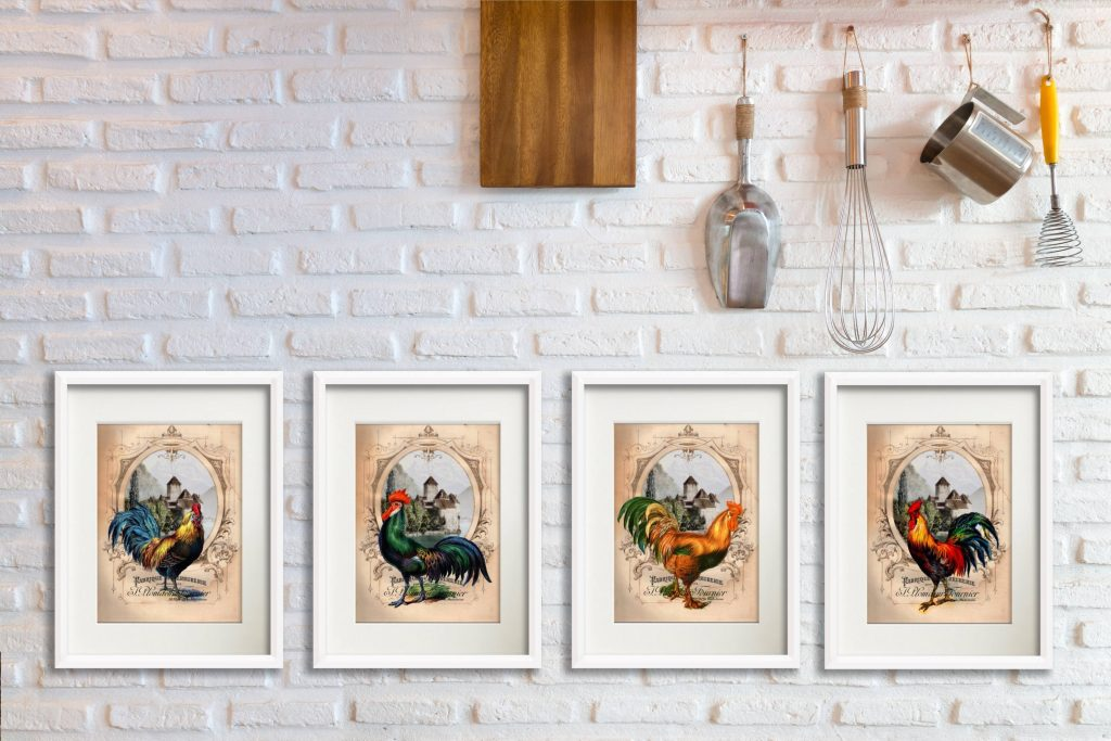 rooster prints