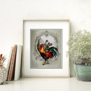 French Chateau Rooster IV Art Print