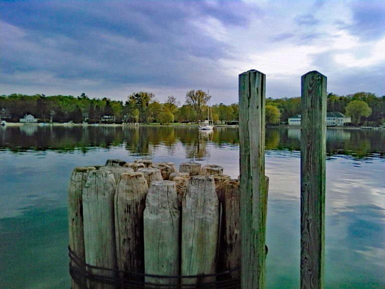 Harbor Pilings in Michigan